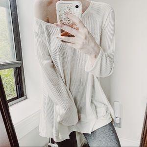 42aa1722 Sweaters - PAYGE ♡ WAFFLE KNIT ♡ BOHO FLOWY LAYERED SWEATER